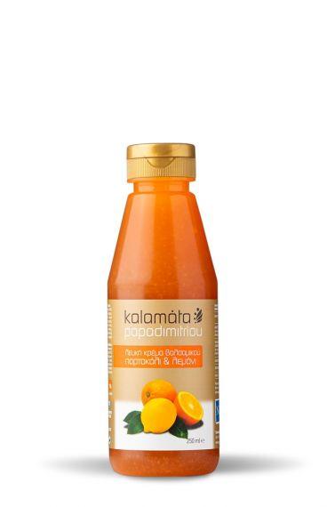 Κρέμα Βαλσαμικού Καλαμάτας Λευκή με Πορτοκάλι & Λεμόνι (250ml)